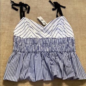 BRAND NEW WITH TAGS ADORABLE RIBBON TIE TANK